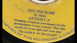 anthony b  - fire pon rome  extended- star trail records 1996 reggae roots