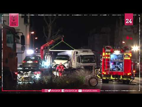 Stolen truck slams into cars in Germany several injured police