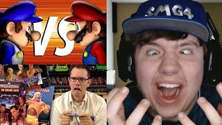 Reaction Monday #9 - War of the Fat Italians 2017 + Wrestling Games (AVGN)