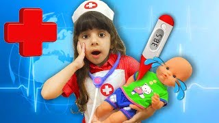 Кукла Беби Бон ЗАБОЛЕЛА! Дарина как МАМА вызвала ВРАЧА. Доктор ЛЕЧИТ игрушки для детей.