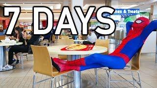 I Dressed Like A Superhero FOR A WEEK! (Spiderman, Venom, Black Panther, Batman COSTUME CHALLENGE)