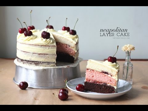 Video Neapolitan Layer Cake Recipe feat. KitchenAid