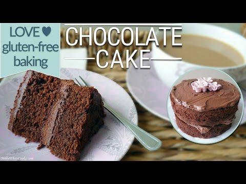 Video Gluten Free Chocolate Cake & Fudge Frosting Recipe | Moist Gluten Free Baking - Birthday Celebration