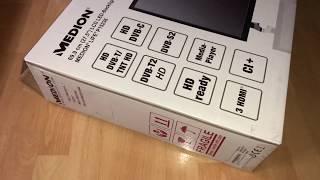 MEDION LIFE P15236 MD 21444 69,9 cm (27,5 Zoll HD) Fernseher unboxing und Montage