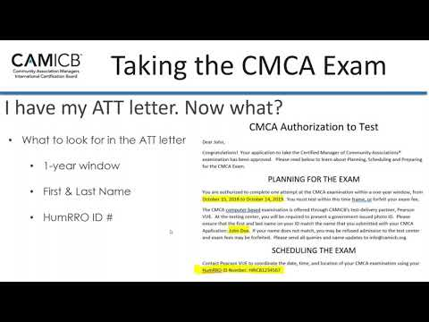 How to Plan, Prep & Pass the CMCA Exam Webinar - YouTube