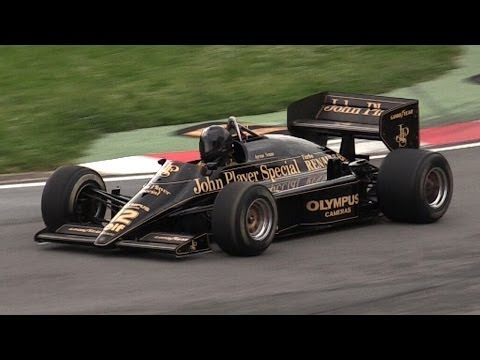 1985 Lotus 97T F1 V6 Turbo Sound & Accelerations