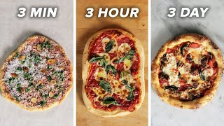 3-Minute Vs. 3-Hour Vs. 3-Day Pizza • Tasty