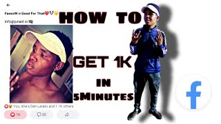 HOW TO GET 1K FACEBOOK LIKES FOR FREE | 1000% FREE | 2020 TRICK