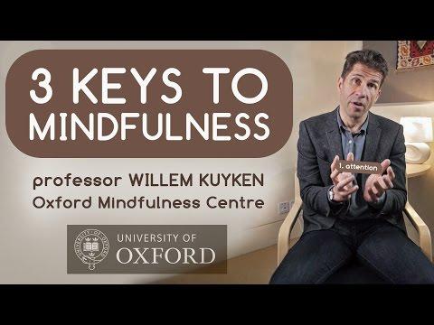 3 Keys to Mindfulness with Professor Willem Kuyken (Oxford Mindfulness Centre )