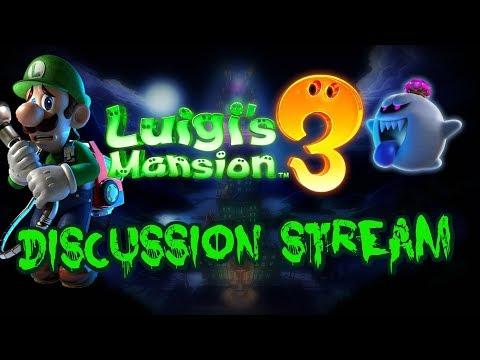 Luigi's Mansion 3 Discussion Live Stream!