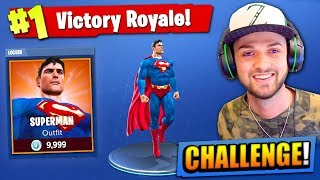 The SUPERMAN CHALLENGE in Fortnite: Battle Royale!