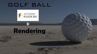golf ball - fusion 360 tutorial