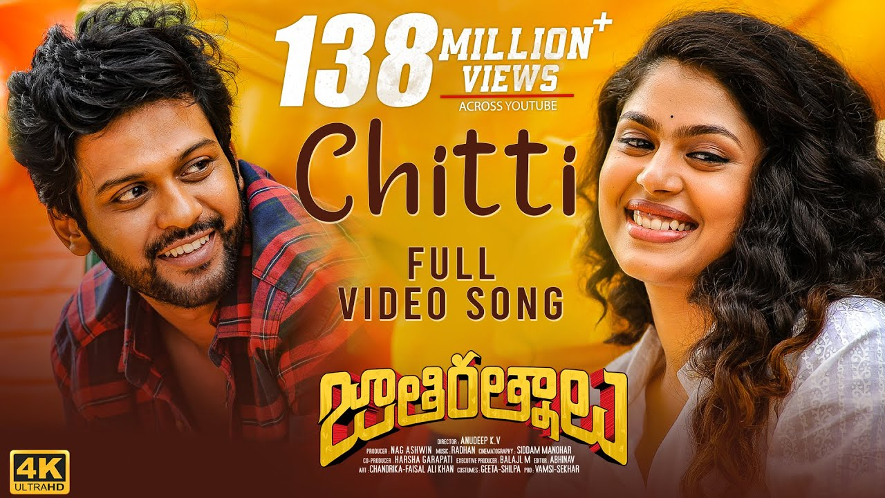 Chitti Lyrics | Jathi Ratnalu | Naveen Polishetty, Faria