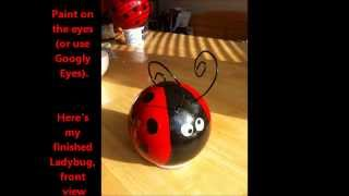 GARDEN PROJECT: A Tutorial on How to Make Ladybug Bowling Balls