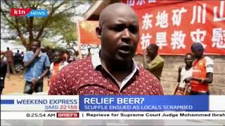 Scuffle ensues as locals scramble for relief food and beer in Baringo