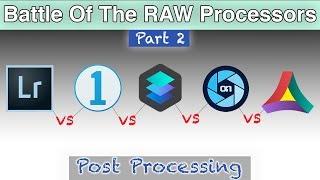 Post Processing Battle | Lightroom vs Capture One vs Luminar vs On1 Photo RAW vs Aurora HDR