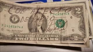 HUGE FIND! $2 Bill Searching for Rare Notes and Serial Numbers