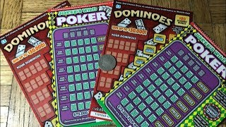 Turned Out Alright! JOKERS WILD POKER & DOMINOES California Lottery Scratcher Tickets