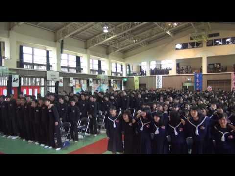 豊見城中学校 66期 卒業式 ラスト 気持ちの良い子供達でした。