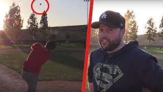 I HIT A 600FT HOMERUN AGAINST DODGERFILMS AND THE SOFTBALL CREW!