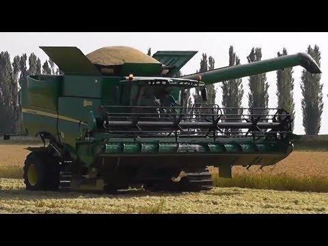 John Deere S670i - S680i mietitura riso / rice harvest 21/09/2013