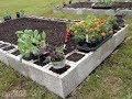 Comment organiser un jardin potager en bloc de cendre-jardin potager en ...