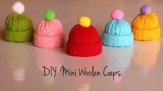DIY Mini Wool Hat   Mini Woolen Cap   Christmas Ornaments   DIY Baby Doll Accessories