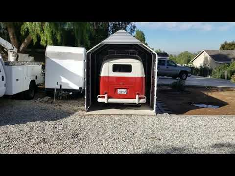 Harbor freight tools portable garage into Permanent structure