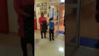 Тяжелобольной мальчик Нурасыл прокатился с полицейкими в Астане
