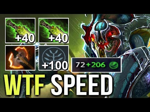 WTF IS THIS NYX 300 Agi Crazy Shotgun Battle Fury Carry Build by OG.7mad +100 Agi Talent Dota 2