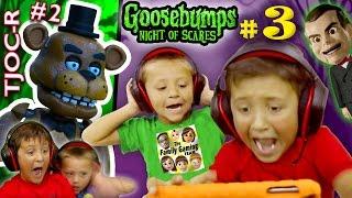 GOOSEBUMPS NIGHT Of JUMP SCARES Part 3 W FNAF TJOC Reborn Part 2 (FGTEEV Mike & Chase)