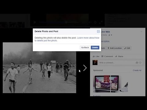 Facebook: Άτακτη υποχώρηση για το Κορίτσι της Ναπάλμ