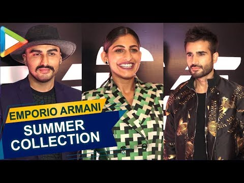 Arjun Kapoor, Kubra Sait & others at Launch of Emporio Armani's Summer Collection