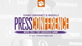 WATCH: Dabo Swinney presser (Louisville)