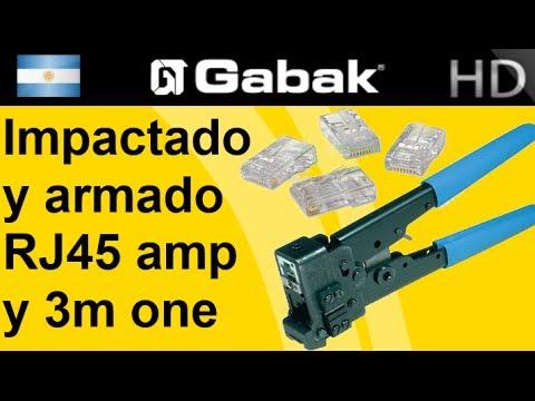 Impactado + armado rj45 amp y 3m one click para rosetas.