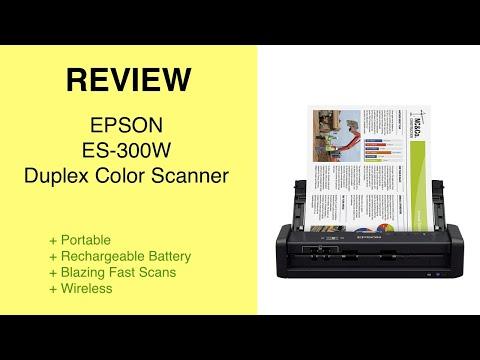 Review Epson ES-300W duplex color scanner
