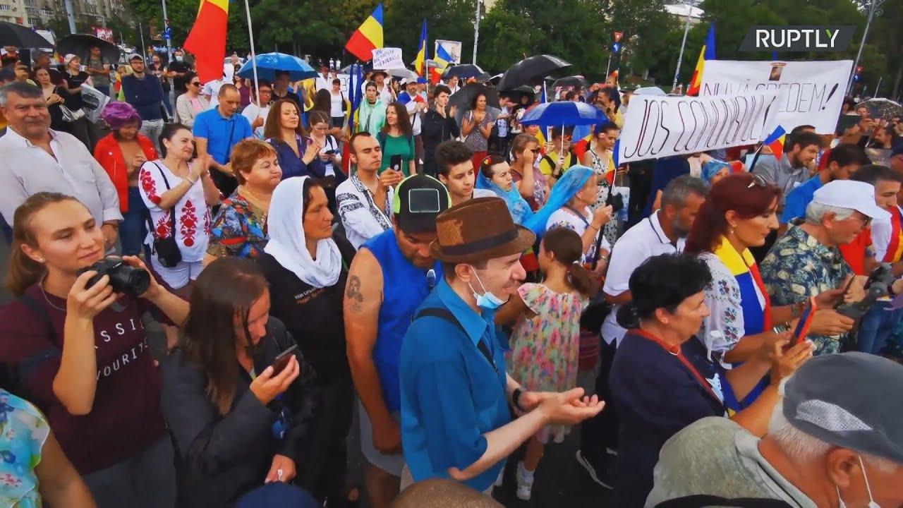Ρουμανία: Διαδήλωση ενάντια στο νέο νόμο περί καραντίνας και αυτοπεριορισμού στο Βουκουρέστι