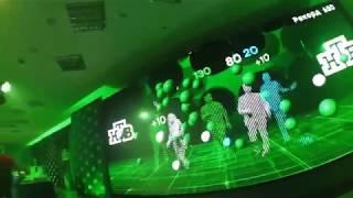 WelcAR - люди, эффекты, взаимодействие с 3D объектами, реакция 3D объектов на реальный живой звук