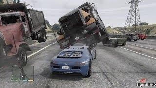 GTA 5 100 Tons Super Car Rampage #4 HD Grand Theft Auto 5