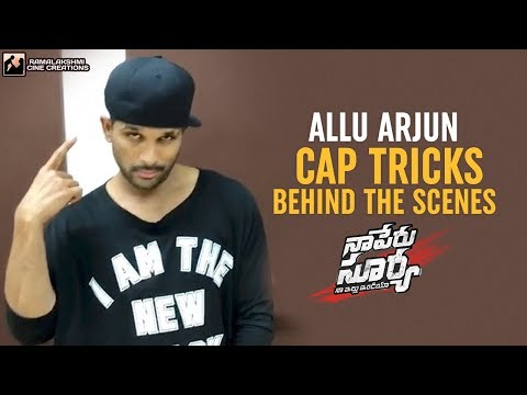 Allu Arjun Cap Tricks | Lover Also Fighter Also Song | Behind The Scenes | NSNI | #FlipItLikeSurya