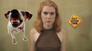 Смотреть онлайн Как избежать велосипедисту нападения собак