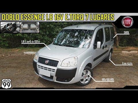 FIAT DOBLO ESSENCE 7 LUGARES 1.8 16V E.TORQ - Detalhes internos e externos