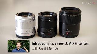 The new LUMIX G 30mm F2.8 Macro & 42.5mm F1.7 Portrait lenses with Scott Mellish