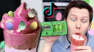 Making Whipped Tiktok Coffee - Easter Edition! 🐰