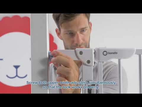 Drošības vārti Lionelo Truus Slim LED, white