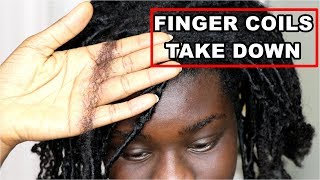 How To Take Down Finger Coils On Natural Hair WITHOUT BREAKAGE