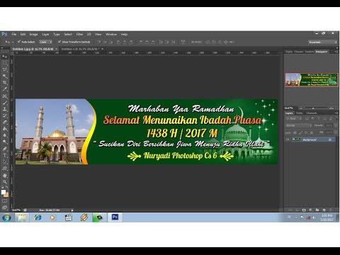 cara membuat desain banner ramadhan 2017