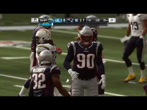 Madden 19 Chargers vs Patriots 1st Half | Modded Realistic