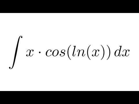 Integral of x*cos(ln(x)) (by parts + by parts)