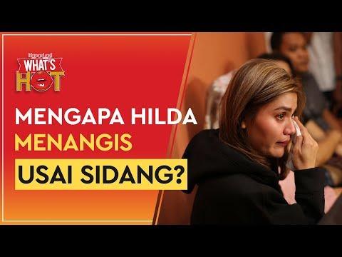 Hilda Vitria Menangis Usai Sidang Kris Hatta